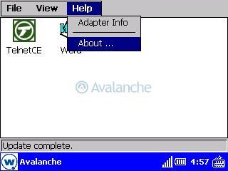 Pantalla principal del Avalanche Enabler