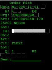 figure 8 - pantalla vertical del WMS